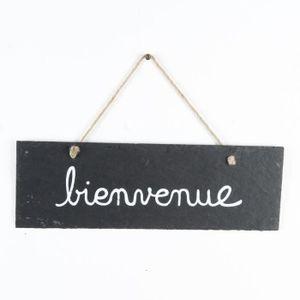 Plaque bienvenue achat vente plaque bienvenue pas cher for Pancarte bienvenue pour porte