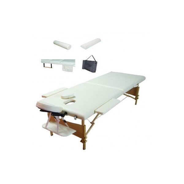 table de massage pliante 2 zones bois blanche edition lux. Black Bedroom Furniture Sets. Home Design Ideas