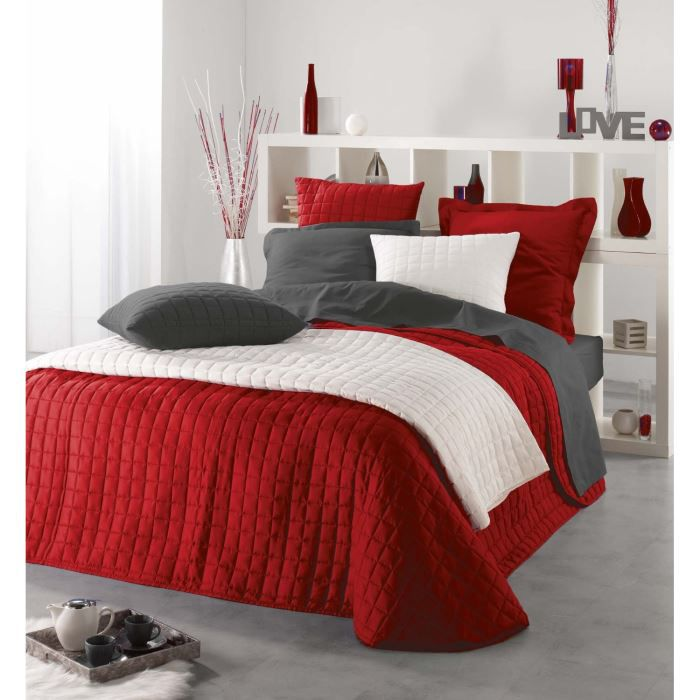 couvre lit venus microfibre rouge 220x240 cm achat vente jet e de lit boutis cdiscount. Black Bedroom Furniture Sets. Home Design Ideas