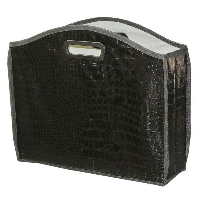 porte revues meuble rangement pliable noir deco achat vente porte revue porte revues meuble. Black Bedroom Furniture Sets. Home Design Ideas