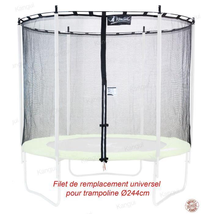 kangui filet de s curit universel trampoline 244cm achat vente acc de trampoline. Black Bedroom Furniture Sets. Home Design Ideas