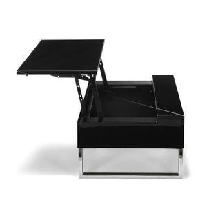 Table basse design achat vente table basse design pas cher cdiscount - Table basse tablette relevable ...