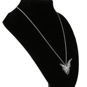 CHAINE DE TAILLE Femmes Charme Creux Pendentif Papillon Collier Arg