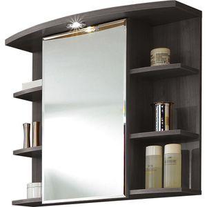 Armoire miroir avec lumi re coloris fr ne carbo achat for Miroir avec lumiere