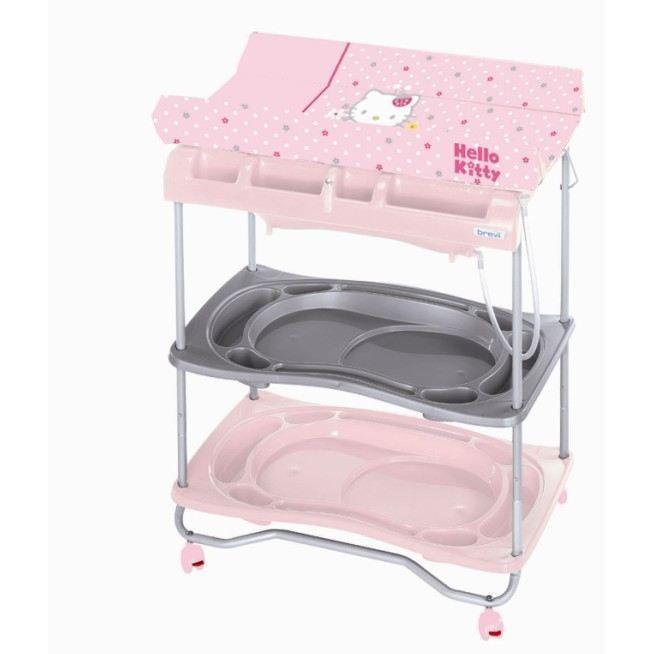 Hello kitty table langer atlantis fleur rose rose et gris achat vente table langer - Table a langer brevi atlantis ...