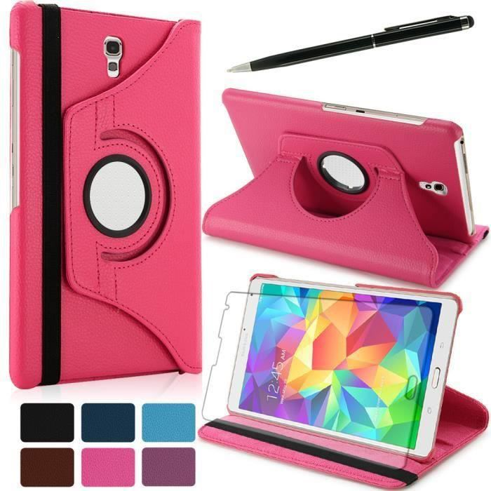 Haoxiong housse 360samsung galaxy tab s 8 4 t700 rose f for Housse galaxy tab s