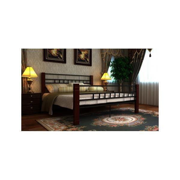 lit en m tal 140 x 200 cm avec matelas achat vente. Black Bedroom Furniture Sets. Home Design Ideas