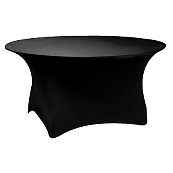 Nappe lastique pour table ronde 180cm noire achat vente nappe de table - Table ronde 180 cm diametre ...
