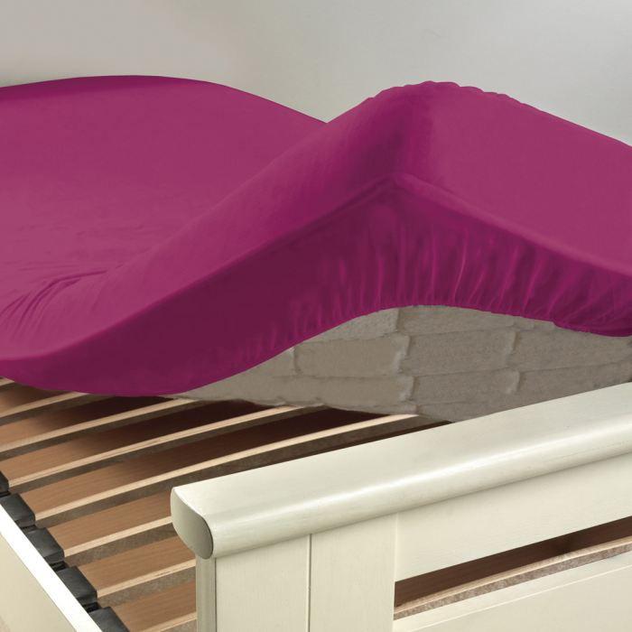 drap housse coton intimity 160x200cm violette achat vente drap housse cdiscount. Black Bedroom Furniture Sets. Home Design Ideas