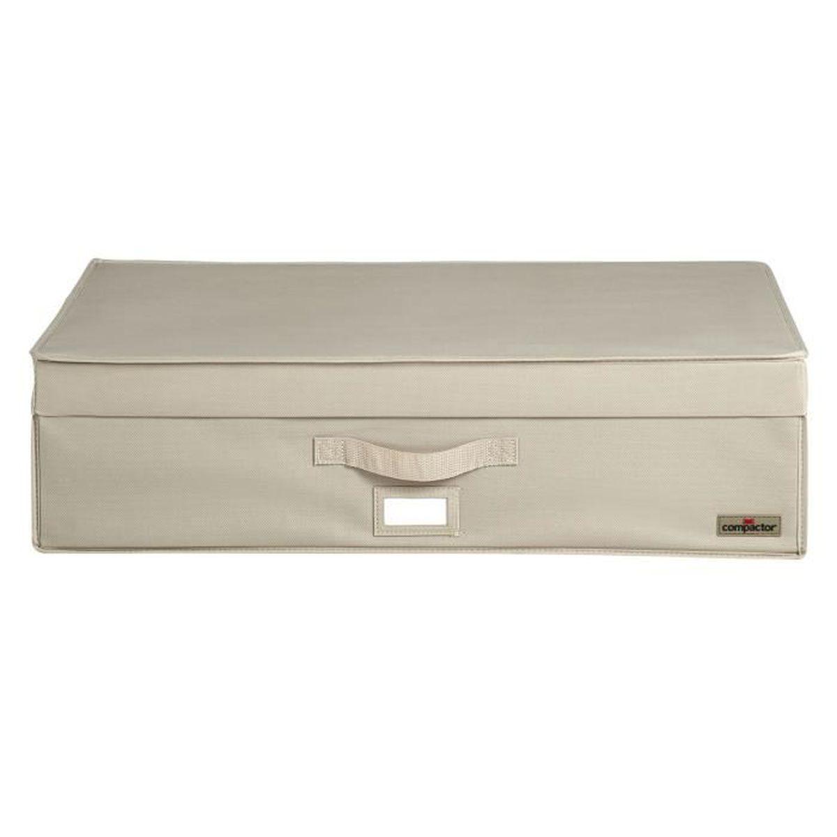 Compactor housse dessous de lit beige life 190l achat for Compactor housse