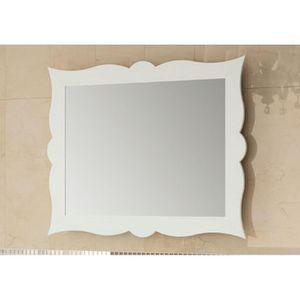 Miroir de salle de bain r tro 79 cm cadre blanc achat for Miroir cadre blanc