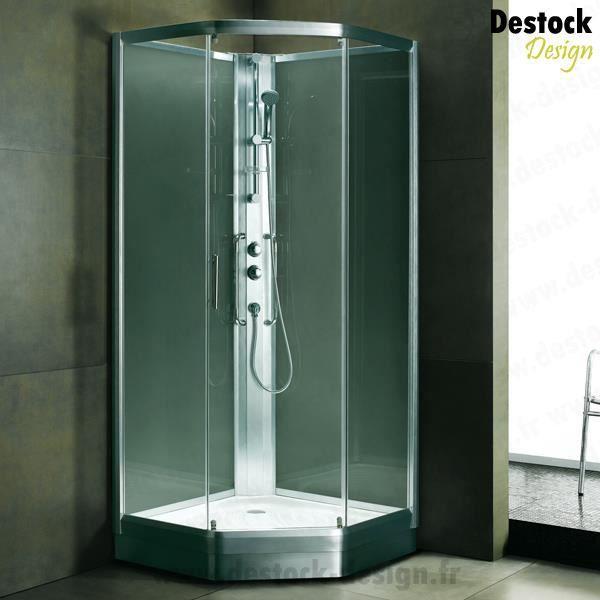 Cabine de douche int grale pentagonale achat vente parois porte de douc - Cabine de douche integrale 70 x 100 ...