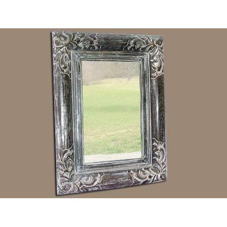 Miroir valence en bois patin 60 x 80 c rus gris achat for Miroir 60 x 90
