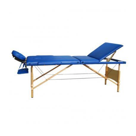 Table de massage pliante bois 3 zones bleue achat vente table de massage - Achat table de massage pliante ...