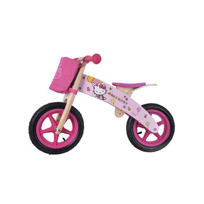 PORTEUR - POUSSEUR Vélo sans pedale en bois Hello Kitty