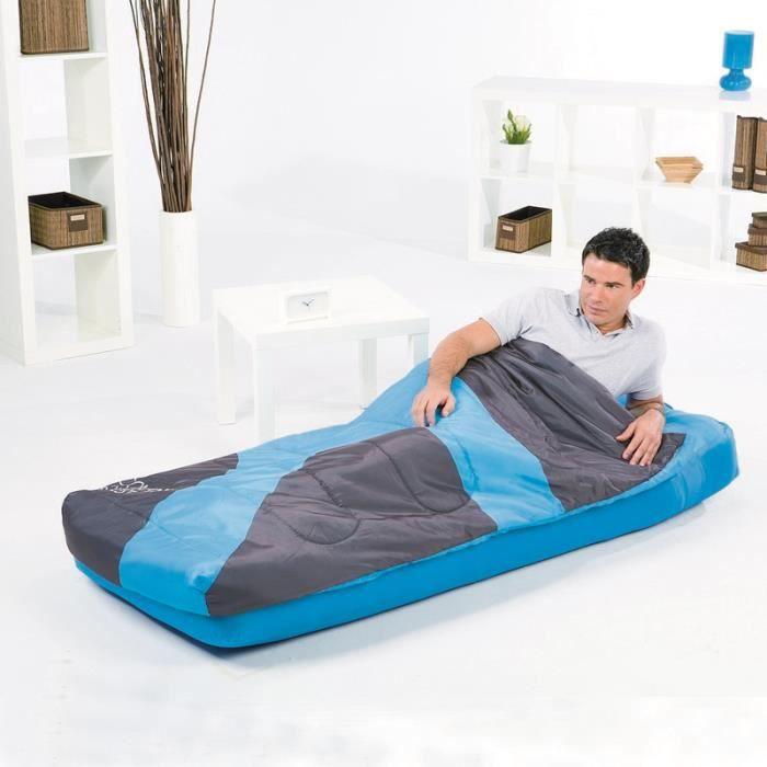 Matelas sac de couchage int gr 1 personne bestway bleu - Matelas gonflable avec sac de couchage integre ...