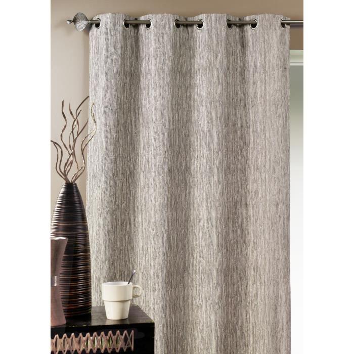 double rideau ameublement faux uni taupe 140 x achat. Black Bedroom Furniture Sets. Home Design Ideas