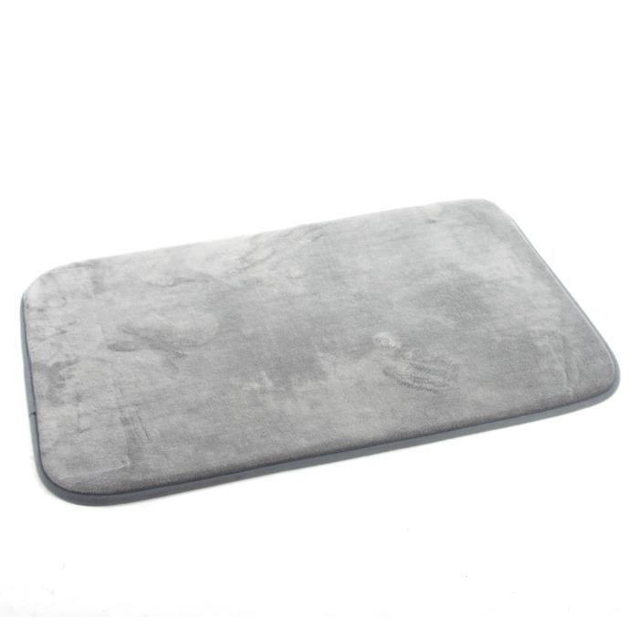 tapis de bain m moire de forme gris clair achat vente. Black Bedroom Furniture Sets. Home Design Ideas
