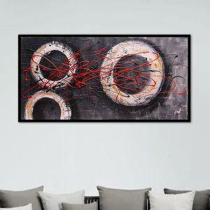 Peinture graphique ronds ajour s achat vente tableau for Peinture graphique