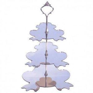 3 niveaux grenouille argent miroir stand g teau grand for Miroir acrylique incassable