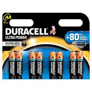 PILES DURACELL Piles Duralock AAx8 Ultra Power (LR6)
