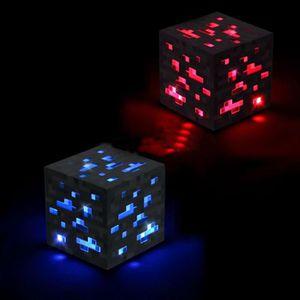 LAMPE A POSER Minecraft Allumer  pierre bleue diamant carré Nuit