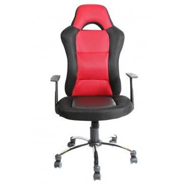Fauteuil de bureau alessio rouge achat vente - Achat fauteuil de bureau ...