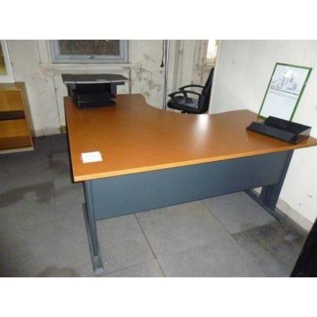 Bureau d 39 angle merisier avec caisson achat vente for Bureau merisier