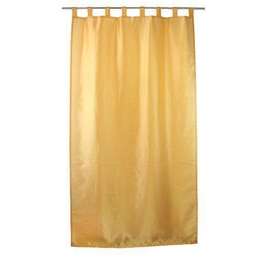 g zze rideau dakar 140x255 cm aspect soie uni jaune pr t poser 8 passants bande d 39 ourlet. Black Bedroom Furniture Sets. Home Design Ideas