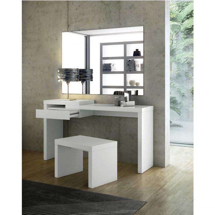 bureau design reef blanc effet brillant achat vente bureau bureau design reef blanc ef. Black Bedroom Furniture Sets. Home Design Ideas