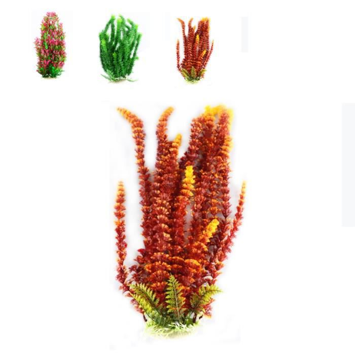 Plantes artificielles herbes plastiques aquatiques color s for Plantes soldes