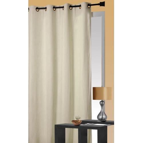 rideau en suedine aspect velours ivoire 140x260cm achat vente rideau su dine les soldes. Black Bedroom Furniture Sets. Home Design Ideas