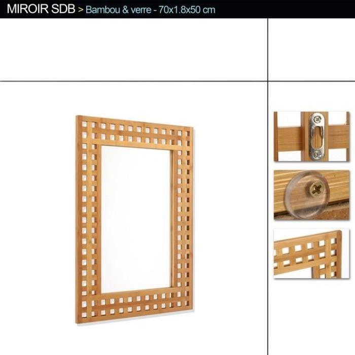 Miroir salle de bain bambou achat vente miroir salle de bain miroir salle - Miroir articule salle de bain ...