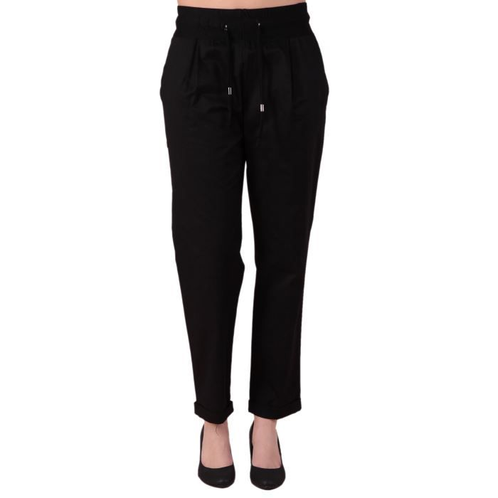 pantalon carotte noir noir achat vente pantalon. Black Bedroom Furniture Sets. Home Design Ideas