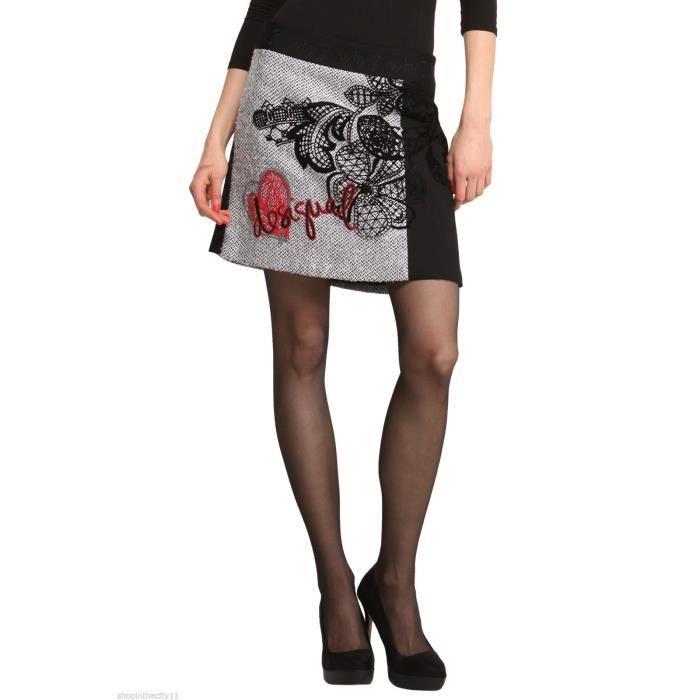 jupe desigual femme modele bali noir achat vente jupe. Black Bedroom Furniture Sets. Home Design Ideas
