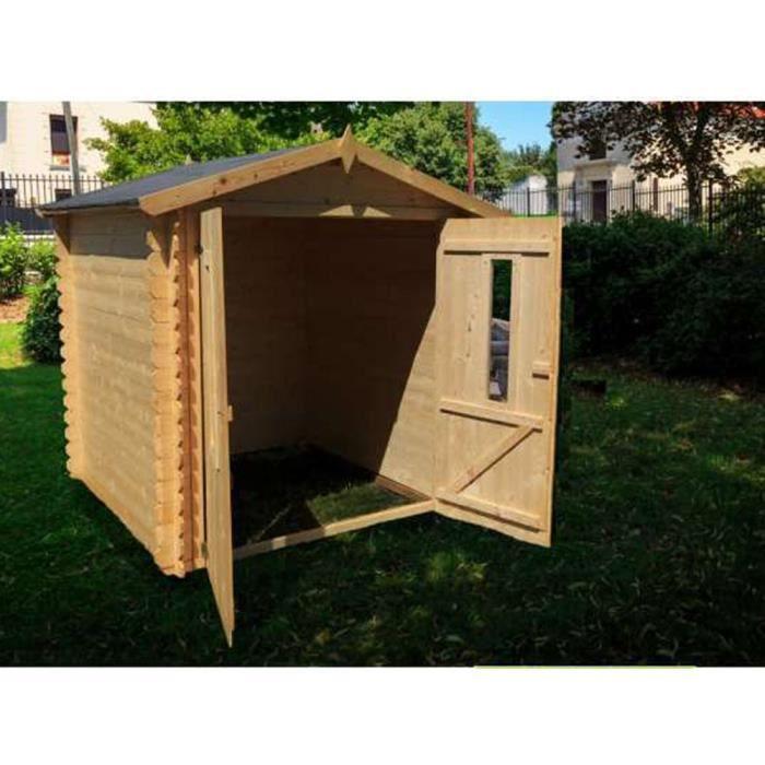 abri de jardin avec toit polypropyl nede en bois 210 x 200 x 213 cm achat vente abri jardin. Black Bedroom Furniture Sets. Home Design Ideas
