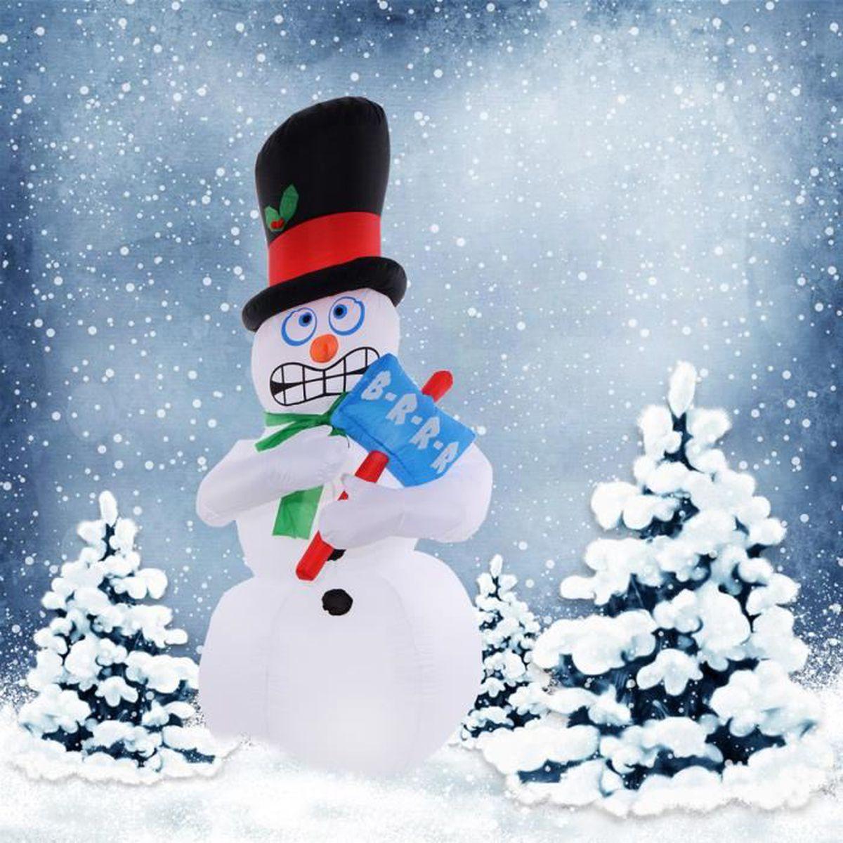 bonhomme de neige gonflable achat vente bonhomme de neige gonflable pas cher cdiscount. Black Bedroom Furniture Sets. Home Design Ideas