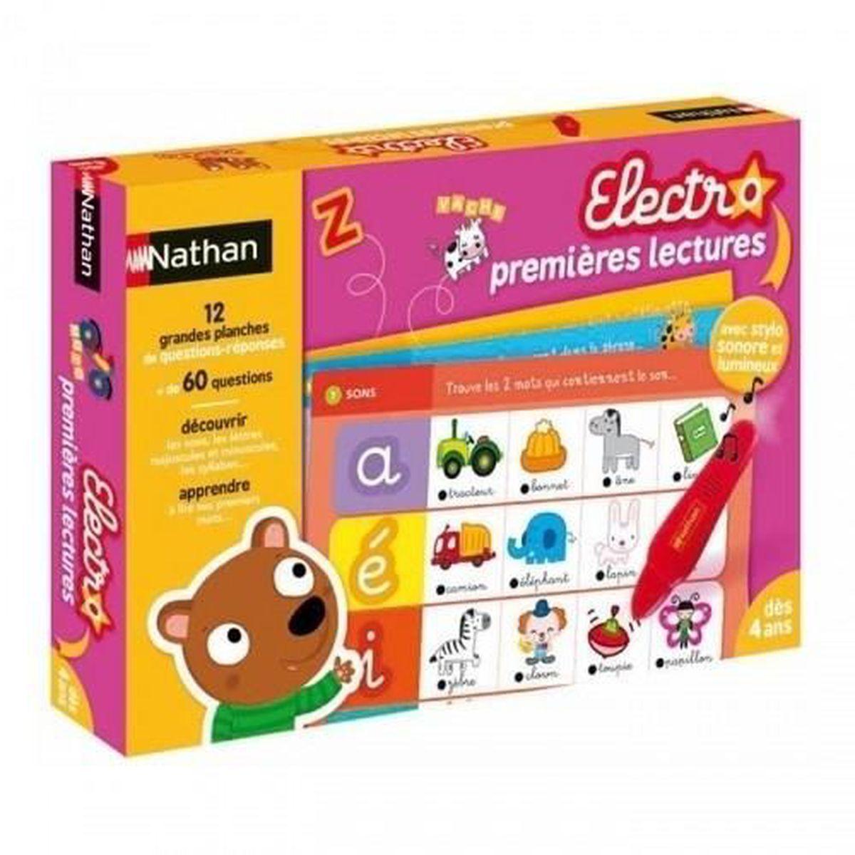 CONSOLE ÉDUCATIVE NATHAN - Jeu Electro Premières Lecture