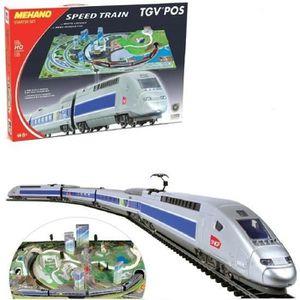TAPIS DE JEU COF TRAIN TGV T111 AVEC MAQUETTE MEHANO MEH-T111