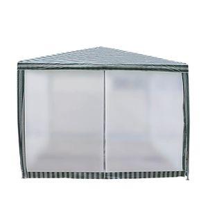 TONNELLE - BARNUM Tente de jardin Pergola 3x3m blanc et vert tonnell