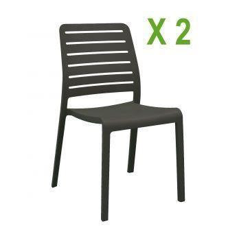 Chaise de jardin en r sine charlotte lattes a achat - Chaise jardin resine ...