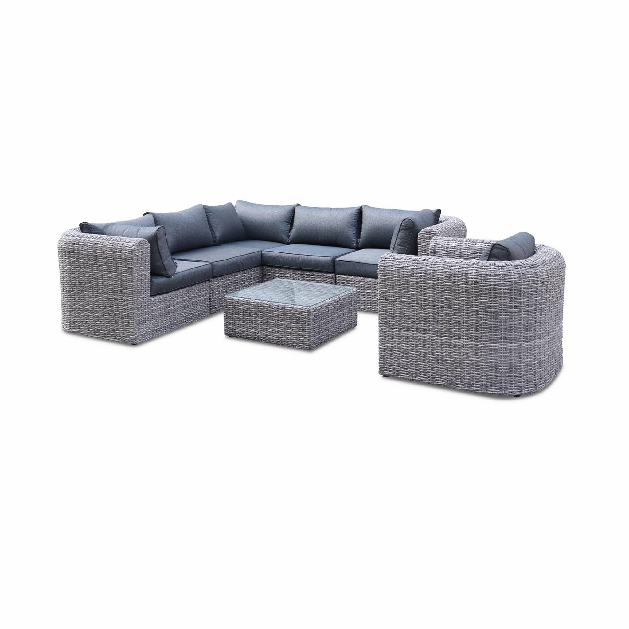 salon de jardin tonico en r sine tress e arrondie 3 tailles 6 places canap fauteuil achat. Black Bedroom Furniture Sets. Home Design Ideas
