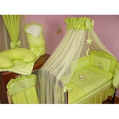 set de lit de luxe 9 pi ces pour filles et gar ons 24 diff rents designs 02 lune vert achat. Black Bedroom Furniture Sets. Home Design Ideas