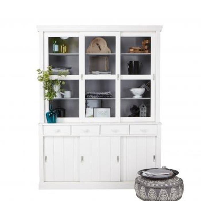 vaisselier en pin massif 6 portes 4 tiroirs sjaak couleur. Black Bedroom Furniture Sets. Home Design Ideas