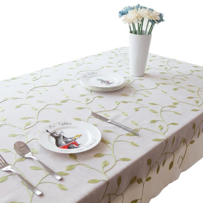 keral nappes imprim anti taches polyester nappe de table rectangulaire nappe pour table. Black Bedroom Furniture Sets. Home Design Ideas