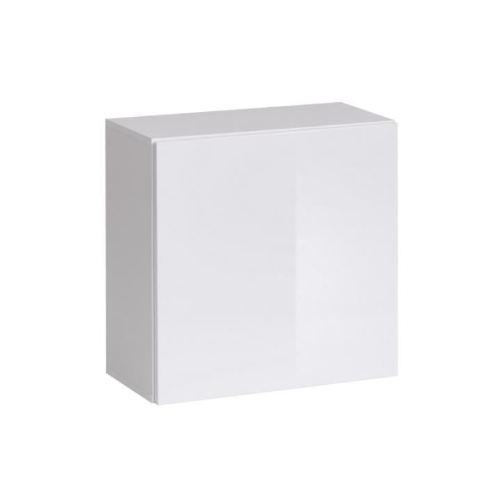 Paris prix bloc mural design switch 60cm blanc achat vente - Bloc etagere modulable ...