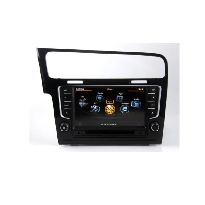 autoradio gps bluetooth pour volkswagen volkswagen golf 7 achat vente autoradio autoradio. Black Bedroom Furniture Sets. Home Design Ideas