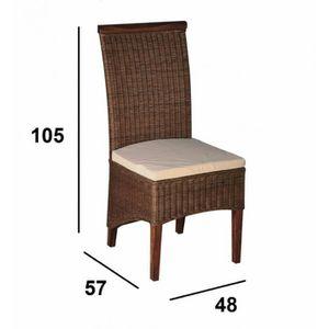 Chaise en paille achat vente chaise en paille pas cher for Soldes chaises rotin