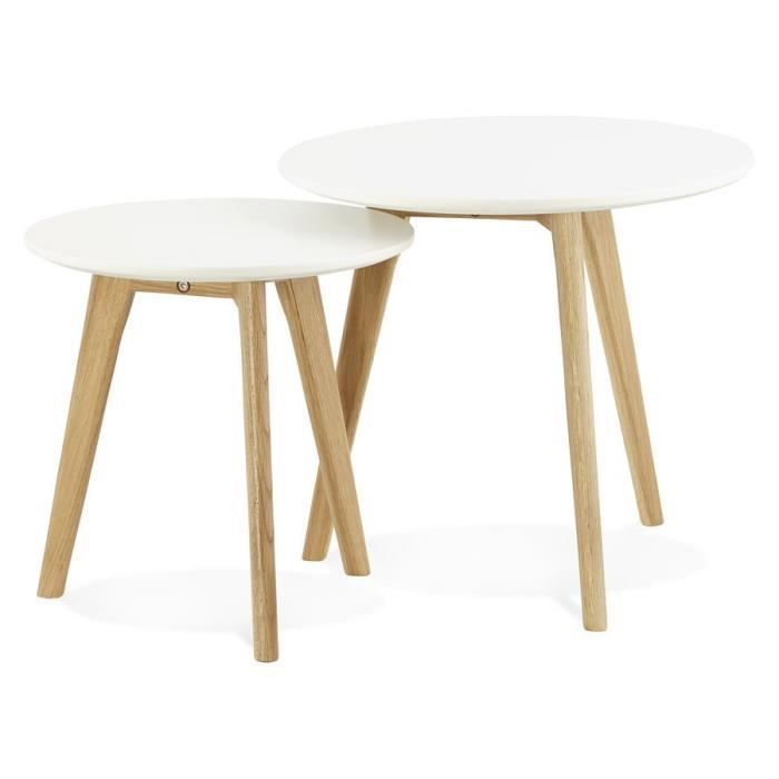 Tables Gigognes Ronde 39 Gaby 39 Style Scandinave Achat