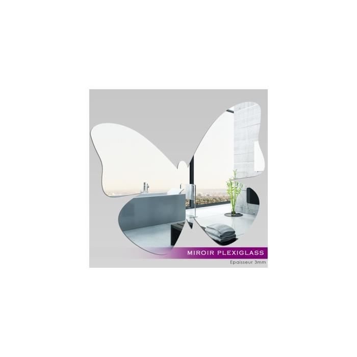 Miroir plexiglass acrylique papillon 3 ref mir 033 for Miroir qui s ouvre